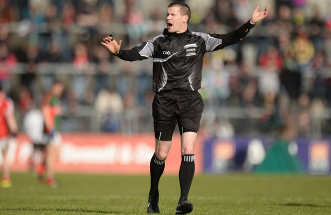 You can't play Gaelic Football without referees like Padraig Hughes.  Picture credit: Piaras Ó Mídheach / SPORTSFILE