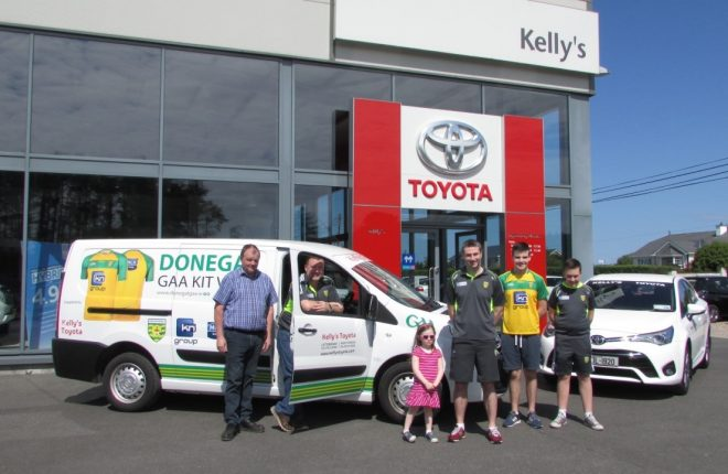Kelly's Toyota Official Motoring Partner Donegal GAA