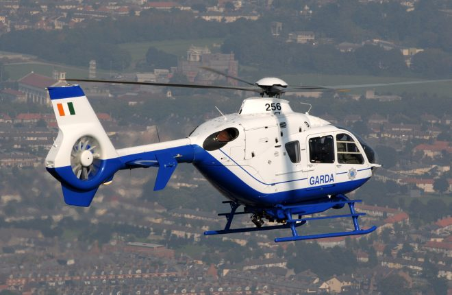 The state-of-the-art Garda Air Support helicopter which will be on standby this weekend for the Donegal International Rally.