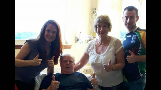 Sean Culleton with his wife Mary, daugher Niam and son Oisin.