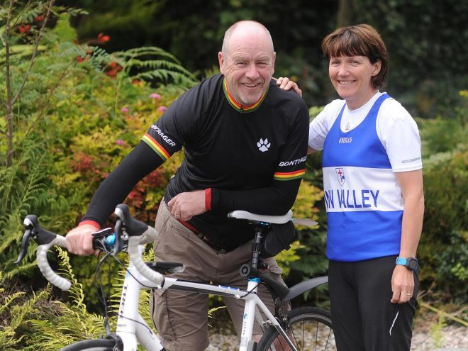 Gerry and Kay Byrne getting all ready for Sunday's Charity Cycle and 5k.