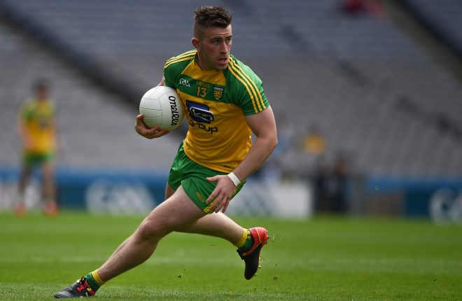 30 July 2016; Patrick McBrearty of Donegal during the GAA Football All-Ireland Senior Championship Round 4B match between Donegal and Cork at Croke Park in Dublin. Photo by Ray McManus/Sportsfile