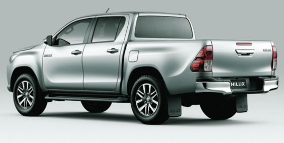 The new Hilux single and double cab versions are on display at Kellys Toyota, Port Road, Letterkenny. Visit our showrooms where our staff will be happy to assist or our website at www. kellystoyota.com