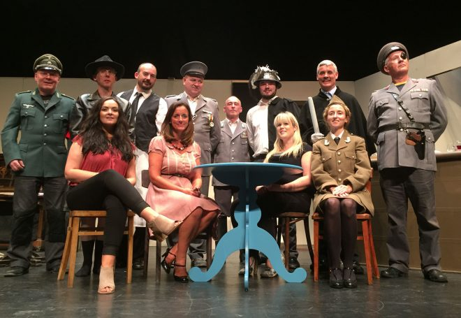 The cast of the Lifford Players' production of 'Allo Allo'.