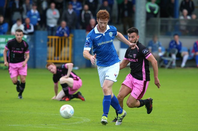 Sean Houston, Finn Harps in possession against Wexford Youths.