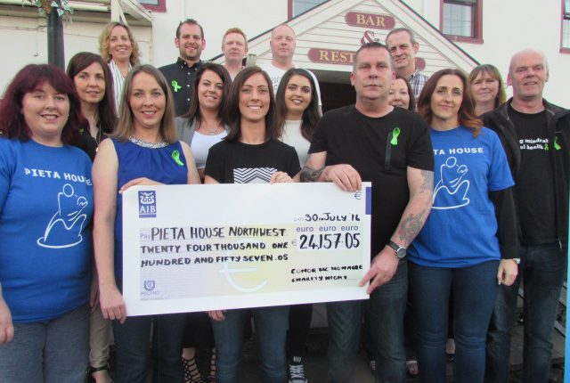 Family and friends of the late Conor McMonagle, who raised more than 24,000 euro for Pieta House Northwest campaign.