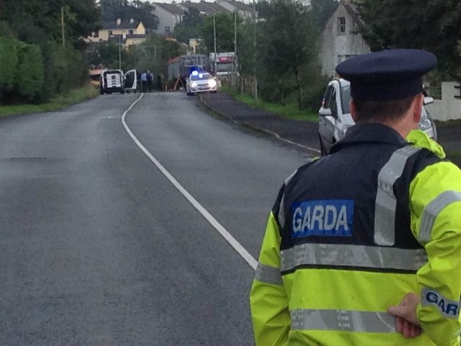 The scene of this afternoon's fatal road traffic accident outside Ballybofey.