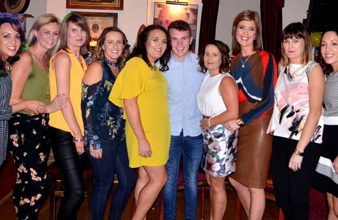Jamie Mc Gee, Crolly with family and friends at his 18th birthday party in Leo's Tavern at the weekend.