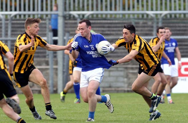 John O'Malley playing against St Eunan's. He will manage the Naomh Conaill minor team today