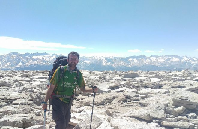 Michael Devlin pictured on part of the Pacific Crest Trail hike.