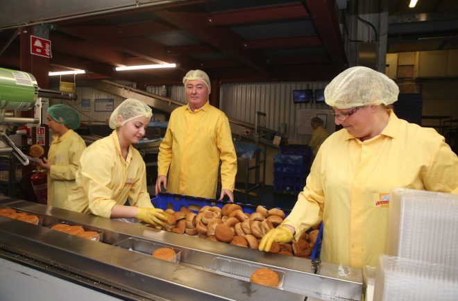 Declan Gallagher oversees production at Gallaghers Bakery.