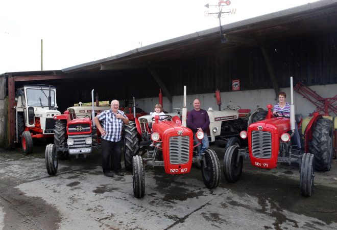 All aboard.... Allen, Tory, Trevor and Jean Wylie preparing for Saturday's Tractor Run.