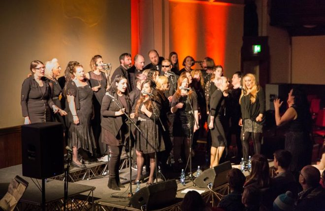 Members of Inishowen Gospel Choir in performance.