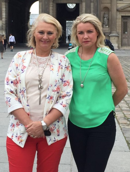 Amanda McClintock and Gillian Hamilton who started Chiq Maternity when they realised that pregnant women were struggling to find something to wear for special occasions.