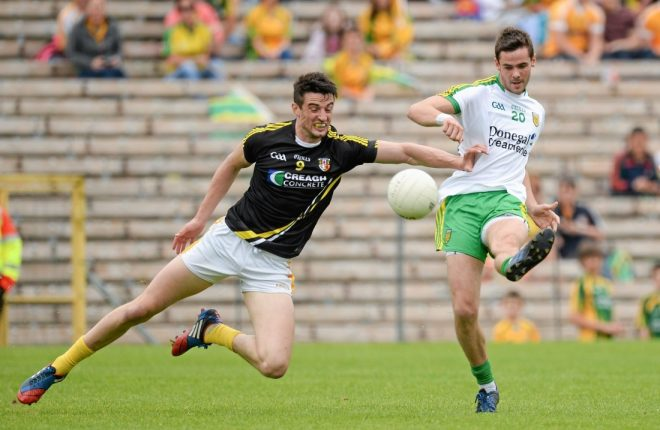Odhran MacNiallais in action against Antrim in the 2014 Ulster Championship quarter-final semi-final