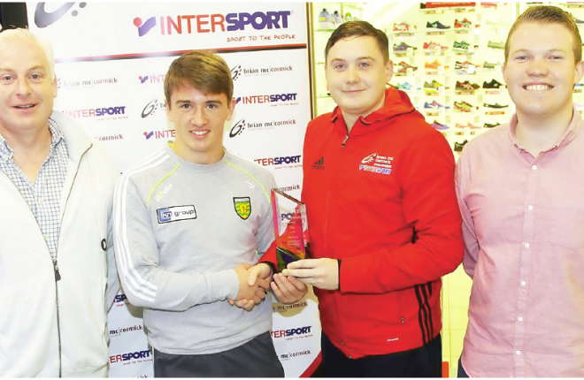 July Donegal News Sports Personality of the Month Peadar Mogan, Donegal Minor player is presented by Dan O'Donnell, Brian McCormick Sports with Harry Walsh and Ryan Ferry, Donegal News.