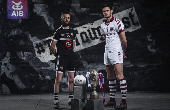 Kilcoo's Conor Laverty and Slaughtneil's Chrissy McKaigue will go to battle on Sunday
