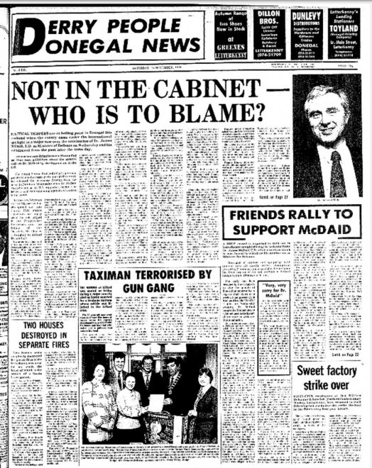 'NOT IN THE CABINET - WHO IS TO BLAME?