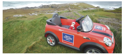 You could win Bono the elf's car just in time for Christmas
