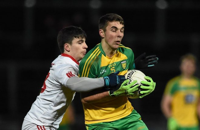 Donegal's Michael Carroll will face Tyrone and Lee Brennan again tonight