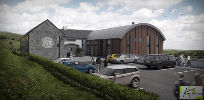 An artist's impression of the proposed distillery.