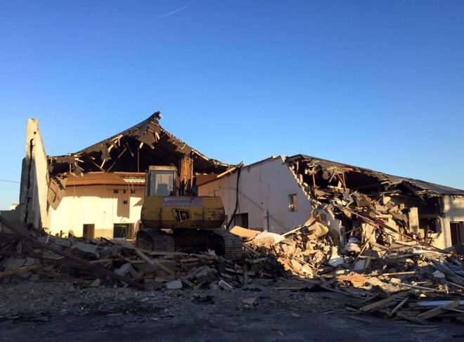 St. Finian's hall was demolished at the weekend.