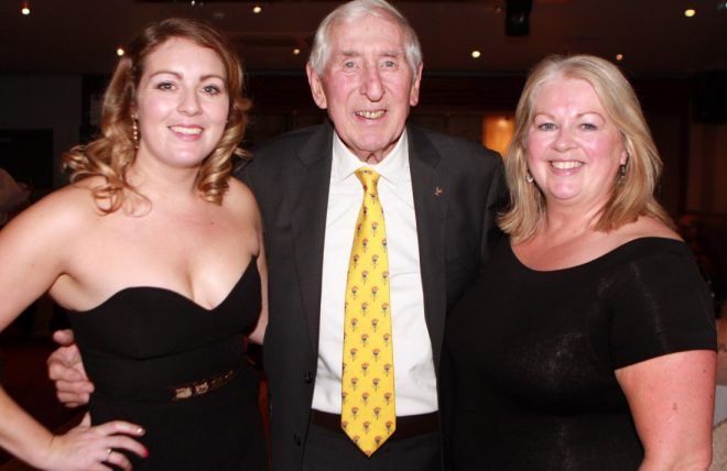 Teresa McDaid with Olympian Ronnie Delany and her daughter Niamh at the recent Letterkenny AC presentation of awards