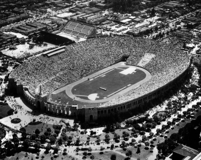 Los Angeles olympics opening ceremony in 1932.