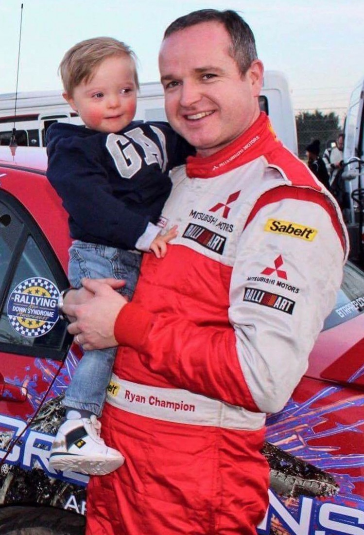 Ryan Champion with his son Finley.