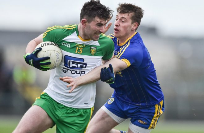 Patrick McBrearty in action against Roscommon