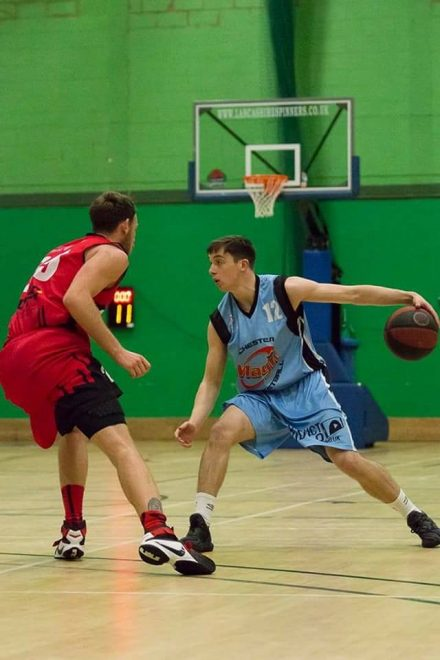 Cian Hickey in action for Manchester Magic in the UK National League.