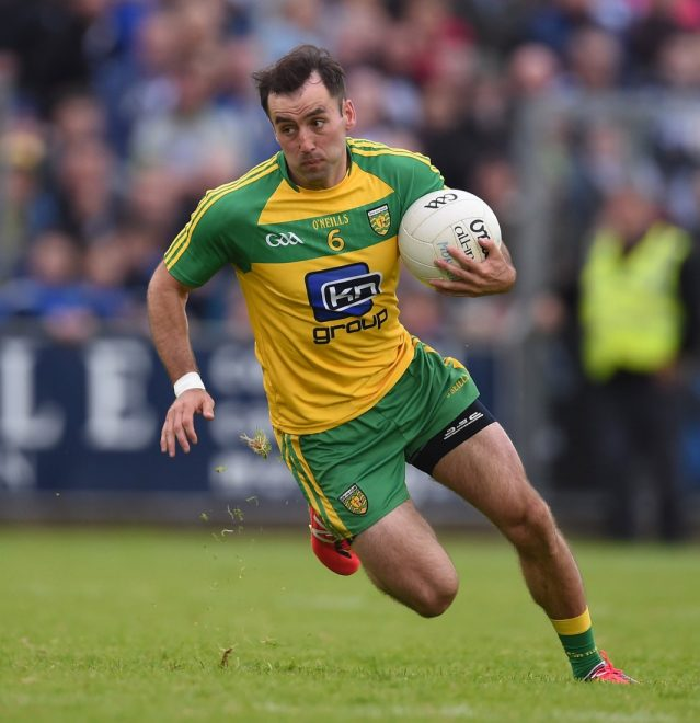 Karl Lacey in action for Donegal