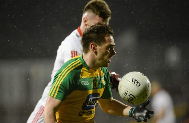 Martin O'Reilly on the ball against TYrone