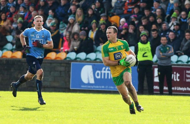 Neil McGee in action against Dublin last week.