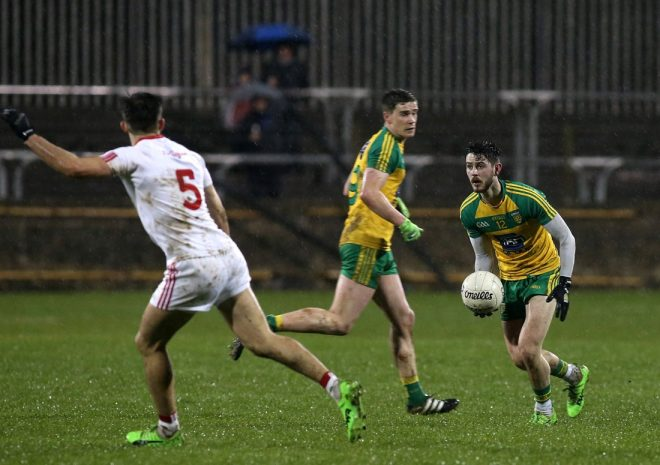 Ryan McHugh in action on Saturday night