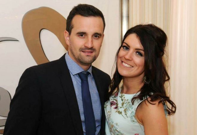Shaun Shields with his fiance Andrea Lynch