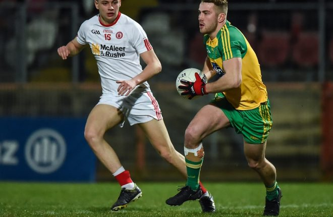 Stephen McMenamin in action for the Donegal Under 21s last week