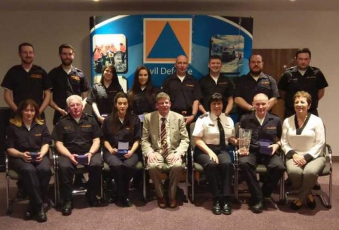 Donegal Civil Defence Team whichcompeted in last Saturdays Regional competition in Sligo