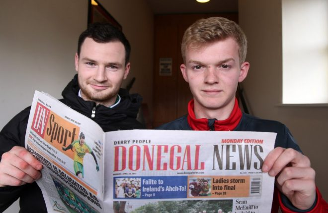 Peter Doherty, Cockhill Celtic, and Adrian Delap (Right), Derry City Reserves will square off at the Dry Arch today