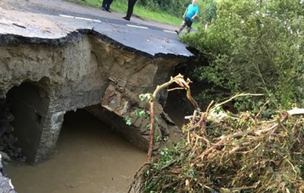 Several bridges and roads 'washed away' in Donegal following flooding