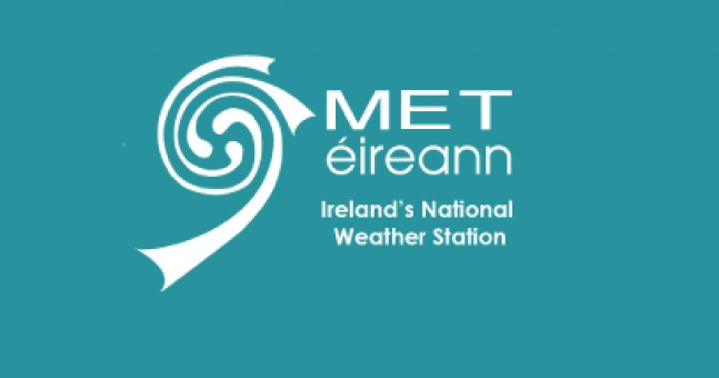 A second status yellow weather warning has been issued for four counties