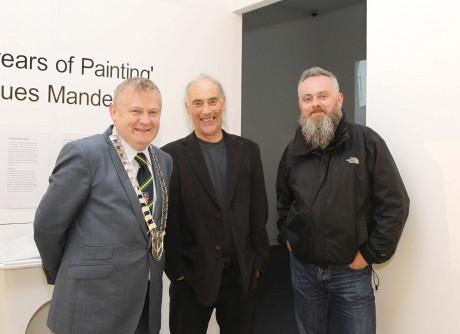 Cllr Dessie Larkin, Letterkenny Town Mayor, Traolach O'Fionnain, Arts Officer and Paul Brown, Earagail Arts Festival Director.