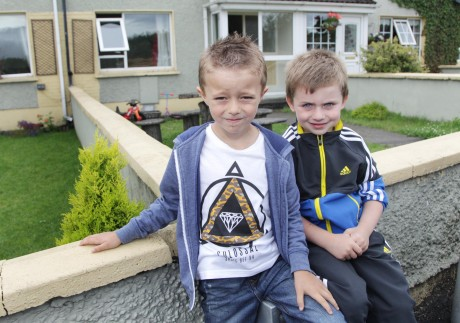 Liam Duff and Shane O'Dowd, Oatfield Terrace who had their bikes stolen from their front gardens. Photo: Donna McBride
