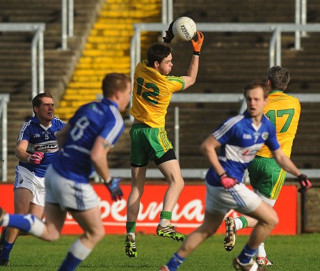 Odhrán MacNiallais in action against Laois
