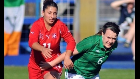 Ciara Grant in action for the Republic of Ireland