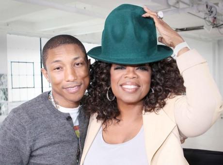 Pharrell Williams and Oprah Winfrey.