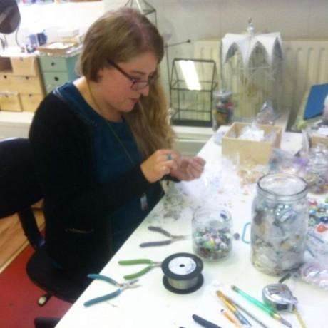Lyndsey at work.