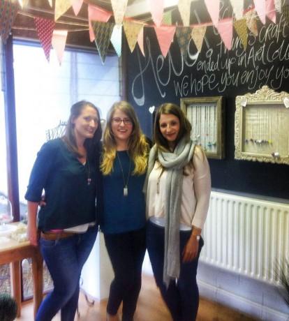 Lyndsey, Zara and Emma McGonigle at their studio.
