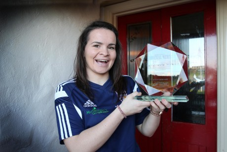 Geraldine McLaughlin, Donegal News Sports Personality of the Month for November 2014 in association with Brian McCormick Sports.