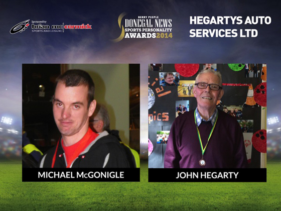Special Achievement highly commended Michael McGonigle & John Hegarty